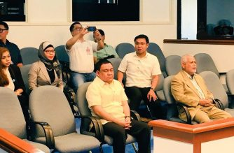 The appointment of Sheriff Abas (in white, front row) as Commission on Elections chair  was confirmed by the powerful Commission on Appointments on Wednesday, May 23. /Meanne Corvera/Eagle News Service/