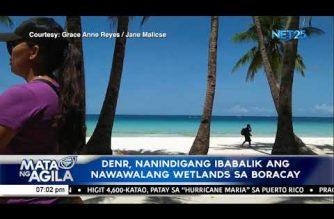 DENR, nanindigang ibabalik ang nawawalang wetlands sa Boracay