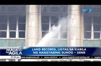 Land records, ligtas sa kabila ng nangyaring sunog – DENR