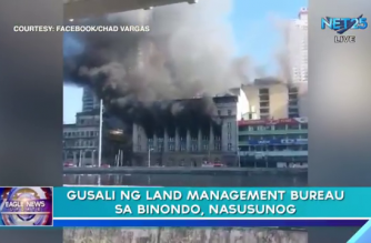 UPDATED: 3 katao sugatan sa sunog sa Land Management Bureau at Nat'l Archives