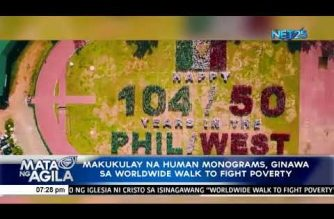 Watch:  Various colorful human monograms/sentences all over PHL during INC's worldwide walk to fight poverty
