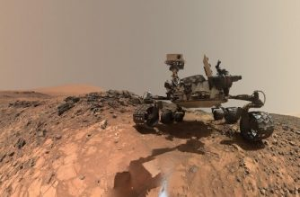 """(FILES)This NASA file photo released June 7, 2018 shows a low-angle self-portrait of NASA's Curiosity Mars rover vehicle at the site from which it reached down to drill into a rock target called """"Buckskin"""" on lower Mount Sharp. NASA hosted a media teleconference on June 13,2018 to discuss a massive Martian dust storm affecting operations of the agency's Opportunity rover and what scientists can learn from the various missions studying this unprecedented event. The storm is one of the most intense ever observed on the Red Planet. As of June 10, it covered more than 15.8 million square miles (41 million square kilometers) – about the area of North America and Russia combined. It has blocked out so much sunlight, it has effectively turned day into night for Opportunity, which is located near the center of the storm, inside Mars' Perseverance Valley. / AFP PHOTO / NASA / Handout / RESTRICTED TO EDITORIAL USE - MANDATORY CREDIT """"AFP PHOTO / NASA"""" - NO MARKETING NO ADVERTISING CAMPAIGNS - DISTRIBUTED AS A SERVICE TO CLIENTS"""