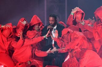 "(FILES) In this file photo taken on January 28, 2018 Kendrick Lamar performs during the 60th Annual Grammy Awards show in New York.  Kendrick Lamar has vowed to resist complacency and stay creative after he became the first rapper to win the Pulitzer Prize for Music. In his most extensive remarks since he was announced as the prestigious award's recipient in April, the 31-year-old told Vanity Fair magazine in an interview published June 28, 2018 that any good news ""motivates me to do more."" / AFP PHOTO / Timothy A. CLARY"
