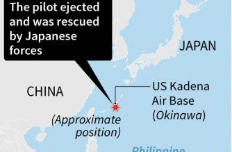Map showing the location of a US military plane crash