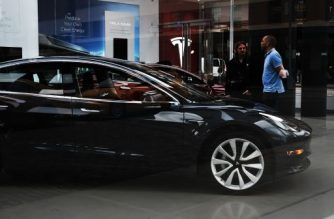 Tesla cars are displayed at a showroom in the Meatpacking district in Manhattan on June 6, 2018 in New York City.    Spencer Platt/Getty Images/AFP