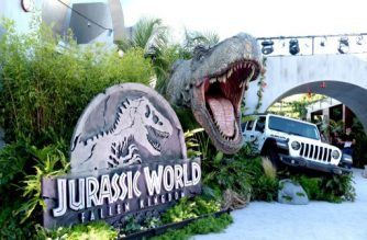 """LOS ANGELES, CA - JUNE 12: A general view is shown at the premiere of Universal Pictures and Amblin Entertainment's """"Jurassic World: Fallen Kingdom"""" at the Walt Disney Concert Hall on June 12, 2018 in Los Angeles, California.   Kevin Winter/Getty Images/AFP"""