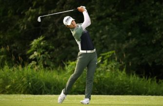 KILDEER, IL - JUNE 28: Sung Hyun Park of Korea watches her tee shot on the 17th hole during the first round of the 2018 KPMG PGA Championship at Kemper Lakes Golf Club on June 28, 2018 in Kiledeer, Illinois.   Gregory Shamus/Getty Images/AFP
