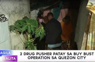2 drug pusher patay sa buy-bust operation sa Quezon City