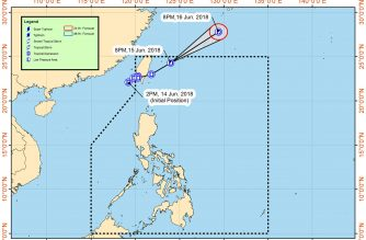 "The track of ""Ester"" as of Friday night. /Pagasa/"