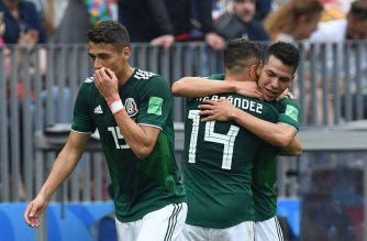 Mexico celebrates. AFP/Getty Images