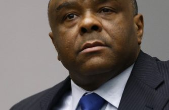 (FILE) Former Congolese vice-president Jean-Pierre Bemba sits in the courtroom of the International Criminal Court (ICC) in The Hague on June 21, 2016.   / AFP PHOTO / POOL AND reuters / Michael Kooren