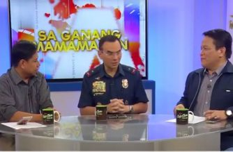 "Chief Supt. Guillermo Eleazar, National Capital Region Police Office head, at Net 25's ""Sa Ganang Mamamayan.""/Eagle News Service/"