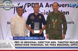 PNP Regional Director ng Misamis Oriental, pinarangalan ng PDEA