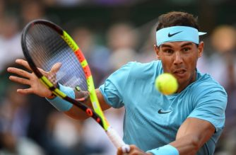Spain's Rafael Nadal returns the ball to Germany's Maximilian Marterer during their men's singles fourth round match on day nine of The Roland Garros 2018 French Open tennis tournament in Paris on June 4, 2018. / AFP Photo / Eric Feferberg