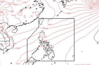 "The track of Tropical Depression ""Ester"" according to Pagasa"