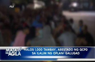 Halos 1,000 tambay, arestado ng QCPD sa ilalim ng Oplan Galugad