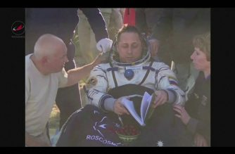Look: Trio reach Earth from ISS with football slated for World Cup