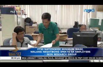 P750 nationwide minimum wage, walang negatibong epekto sa employers – IBON research group