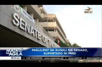 Paglilipat sa gusali ng Senado, suportado ni Pangulong Duterte