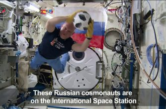WATCH: Russian cosmonauts play football on the ISS