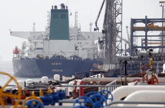 "(FILES) This file photo taken on March 12, 2017  shows an Panamanian tanker docking at the platform of the oil facility in the Khark Island, on the shore of the Gulf. The United States warned June 26, 2018 that countries around the world must stop buying Iranian oil before November 4 or face a renewed round of American economic sanctions. A senior State Department official warned foreign capitals ""we're not granting waivers"" and described tightening the noose on Tehran as ""one of our top national security priorities.""  / AFP PHOTO / ATTA KENARE"