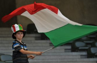 A young supporter waves  the Italy flag before the friendly football match match Italy vs Mexico at the Heizel stadium in Brussels on June 3, 2010 ahaed of the FIFA 2010 World Cup in South Africa. Mexico won 2-1. AFP PHOTO JOHN THYS. / AFP PHOTO / JOHN THYS