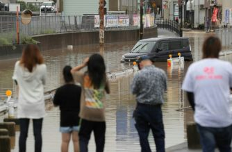 At least 30 people were killed after record rains hit parts of Japan./AFP/Jiji Press/