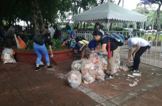 SCAN Int'l members, Iglesia Ni Cristo members clean up during and after July 15 INC Lingap Laban sa Kahirapan