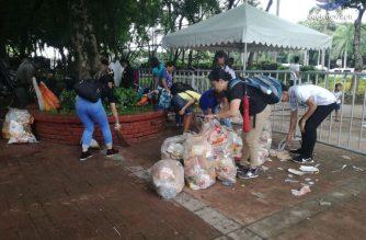 SCAN Int'l members, Iglesia Ni Cristo members clean up during and after July 15 INC Lingap Laban sa Kahirapan