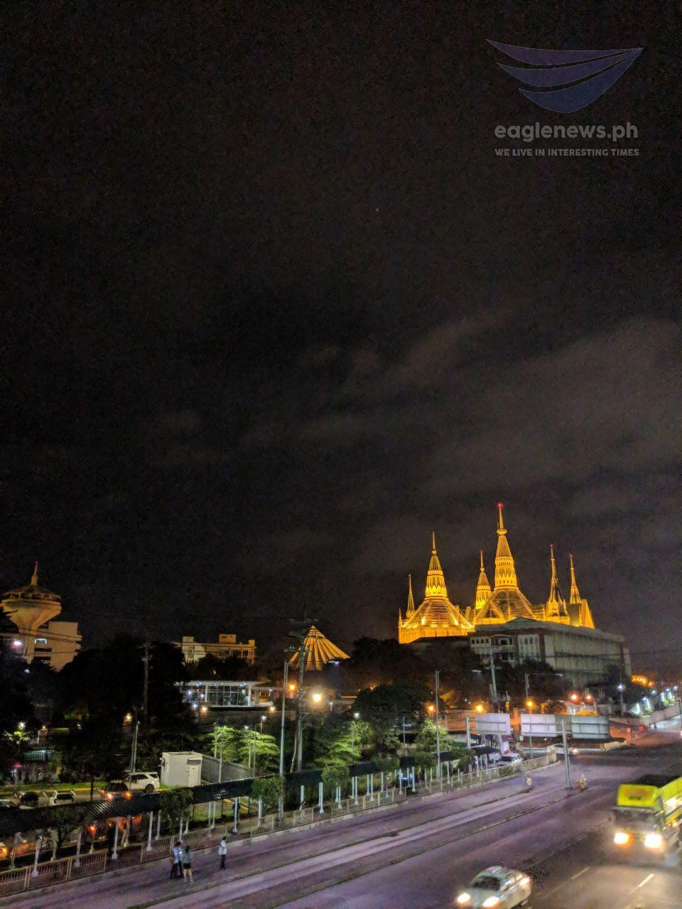 In photos:  The Iglesia Ni Cristo Central Temple like a brilliant jewel in the night sky