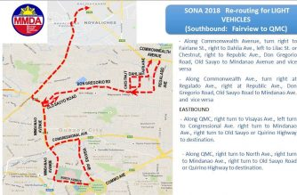 Alternate routes for Monday, July 23./MMDA/