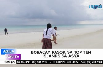 "Boracay, Cebu and Palawan make it to the ""Top 10 islands in Asia"""