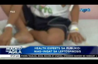 Health experts sa publiko: Mag-ingat sa leptospirosis