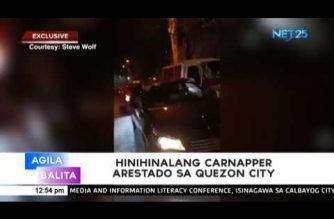 Hinihinalang carnapper arestado sa Quezon City