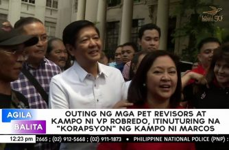 """Marcos camp says outing of Leni camp with PET revisors could be considered as """"corruption"""""""