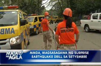 MMDA, magsasagawa ng surprise earthquake drill sa Setyembre