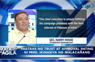 Pagtaas ng trust at approval rating ni Pangulong Duerte, ikinasiya ng Malacañang