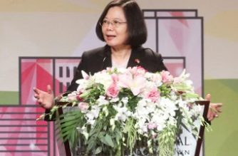 "This photograph by Taiwan agency CNA Photo taken on August 12, 2018 shows Taiwan President Tsai Ing-wen speaking during her visit to Los Angeles, California during a stopover en route to allies Paraguay and Belize. Tsai Ing-wen on August 13 pledged to promote regional stability in the first public talk given by a Taiwanese leader while transitting in the United States since 2003 in a move bound to rile China. / AFP PHOTO / CNA PHOTO / CNA PHOTO /  - Taiwan OUT - China OUT - Hong Kong OUT - Macau OUT / -----EDITORS NOTE --- RESTRICTED TO EDITORIAL USE - MANDATORY CREDIT ""AFP PHOTO / CNA PHOTO"" - NO MARKETING - NO ADVERTISING CAMPAIGNS - DISTRIBUTED AS A SERVICE TO CLIENTS"