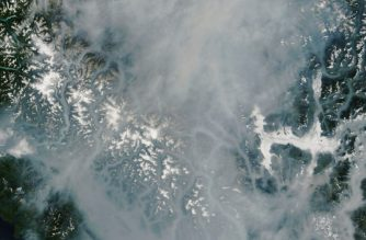 "This satellite image released August 13, 2018 by the NASA Earth Observatory shows the smokey landcape of British Columbia province in southwestern Canada, where a province-wide state of emergency has been declared August 15, 2018 due to 556 wildfires burning across the craggy region.    British Columbia declared a province-wide state of emergency Wednesday, August 15, 2018 as Canada's military joined firefighters in trying to douse 556 wildfires burning across the craggy region. The province's public safety minister, Mike Farnworth, said the measure -- which allows for officials to take ""every action necessary"" to protect the public -- would be in effect for 14 days. It is only the second time in more than a decade that it has been used, after a record fire season last year that blackened vast tracts of forest and prompted record numbers of residents to evacuate. / AFP PHOTO / NASA Earth Observatory / HO / == RESTRICTED TO EDITORIAL USE  / MANDATORY CREDIT:  ""AFP PHOTO /  NASA EARTH OBSERVATORY"" / NO MARKETING / NO ADVERTISING CAMPAIGNS /  DISTRIBUTED AS A SERVICE TO CLIENTS  =="