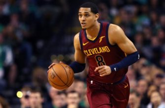 BOSTON, MA - MAY 13: Jordan Clarkson #8 of the Cleveland Cavaliers controls ball against the Boston Celtics during the second quarter in Game One of the Eastern Conference Finals of the 2018 NBA Playoffs at TD Garden on May 13, 2018 in Boston, Massachusetts.   Maddie Meyer/Getty Images/AFP