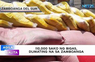 110,000 sako ng bigas, dumating na sa Zamboanga