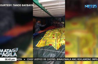 22,000 kaban ng smuggled na bigas, nasabat ng PCG sa Basilan