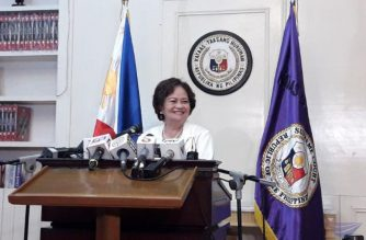 Newly appointed Chief Justice Teresita Leonardo De Castro during her first press briefing as head of the Supreme Court.  (Photo by Moira Encina, Eagle News Service)
