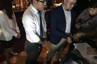 The three lawyers who were arrested for alleged obstruction of justice and intimidation during a raid by police at the Time  in Manila bar in Makati. The raid yielded alleged ecstasy tablets, drug paraphernalia, among others. /SPD photo/