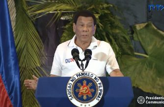 President Rodrigo Duterte speaking during the League of Municipalities conference in Cebu City on August 21, 2018 where he again recalled the sex abuse he suffered under the hands of a Catholic Jesuit priest he identified as Mark Falvey.  (Photo grabbed from RTVM video)