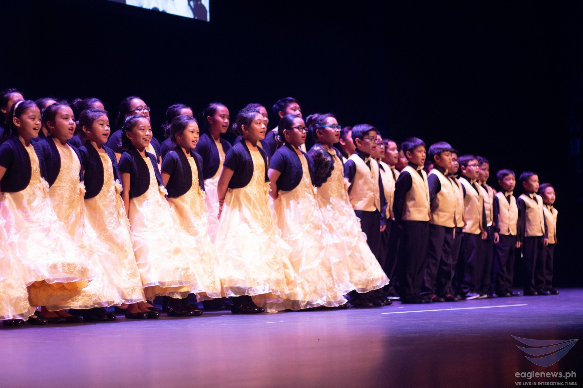 In photo:  Children performing at an INC musical in the US marking the Church's 50th year in the West