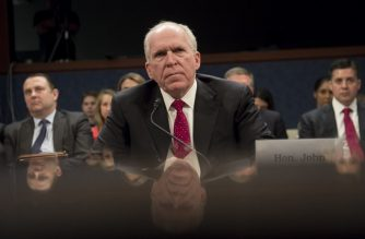 (FILES) In this file photo taken on May 23, 2017, former CIA Director John Brennan testifies during a House Permanent Select Committee on Intelligence hearing about Russian actions during the 2016 election on Capitol Hill in Washington, DC.  / AFP Photo / Saul Loeb