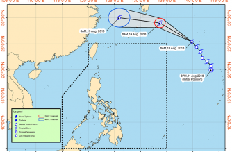 A new Low Pressure Area has been spotted outside the Philippine Area of Responsibility. The Philippine Atmospheric, Geophysical and Astronomical Services Administration said it will enhance the southwest monsoon, bringing rains in parts of the country. /PAGASA/