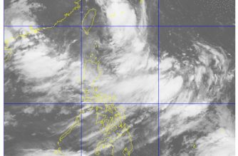 The satellite image of PAGASA as of 5 a.m. Sunday, August  12, 2018.  Light to moderate rains, with occasional heavy rains, are expected Sunday as tropical storm Karding countinued to move  farther away outside the Philippine Area of Responsibility (PAR).  (Satellite image courtesy PAGASA)