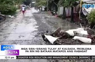 Continuous rains bring damage to roads and bridges in Bataan, says DPWH